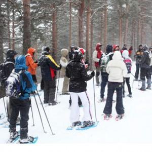 raquetas nieve para escolares
